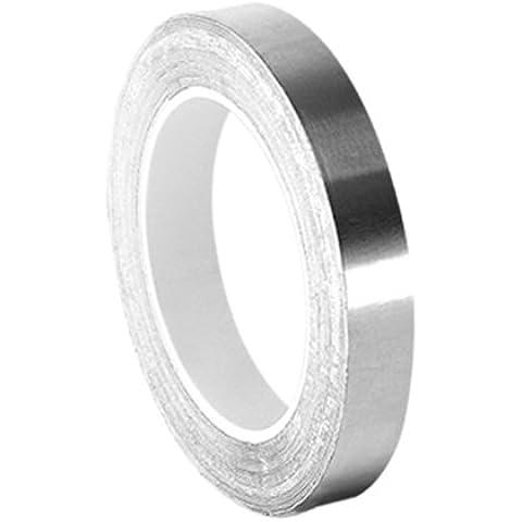 tapecase 0,25–5-420Plata oscuro Lámina De Plomo/cinta adhesiva de goma, linered tape-converted de 3M 420, 60–225Grado F Rendimiento Temperatura, 0.0068
