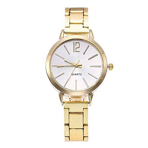 Damen-Uhr-4-Farben-Elegant-Quartz-Bewegung-Analoganzeige-Armbanduhr-mit-Feinen-Edelstahl-Uhrenarmband