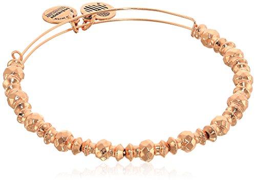 Alex and Ani Canyon Armband, glänzender Rosegoldton (Gold Alex Und Ani Armreifen)
