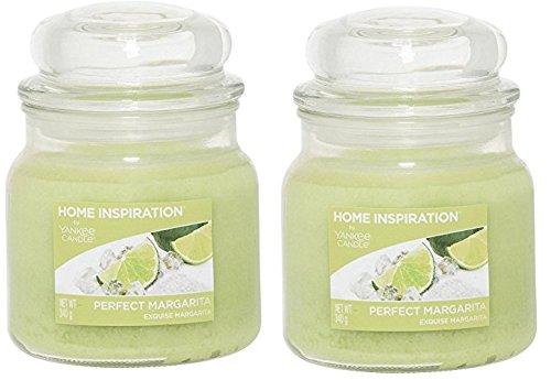 (Packung von 2) Yankee Kerze Perfekte Margarita Aromatisierte Kerze - Duft von scharfen Kalk und Salz - Schöne grüne Kerze - Duftkerze - Kerze Jar - Langlebige Duftkerze - Brennen Kerze - 340g -