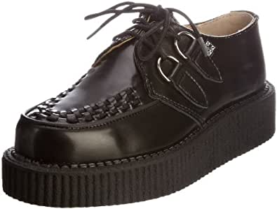 TUK Lo Sole Creeper, Baskets mode mixte adulte - Noir (Black Leather/Black Interlace), 37 EU