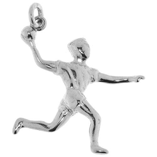 Derby Anhänger Handballspieler massiv echt Silber Sterling-Silber 925 - 23126
