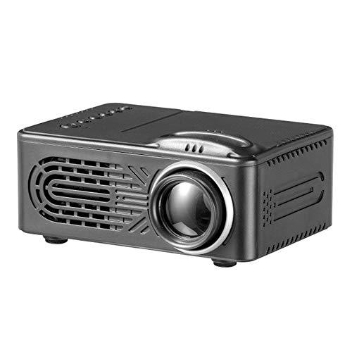 Teepao proiettore multimediale per home theater cinematografico hd led 1080p supporto per cavo usb per smartphone portatile display da 15-60 pollici -nero