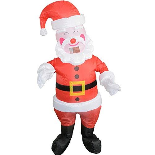 (heling896 Weihnachts-aufblasbares Weihnachtsmann-Kostüm, Weihnachtsweihnachtsmann-Erwachsener Dress Up Requisiten Weihnachtsfeier mit Gebläse, Unisex-Feier zeigt aufblasbare Kleidung)