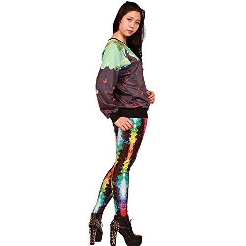Thenice Damen Sweatshirt, Animalprint One size Schwarz