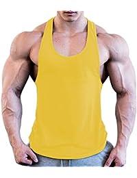 2da12b24654b6 Men Sports Workout Sleeveless Vest Casual Wear Tank Top Gym Fitness Singlet  T-Shirt