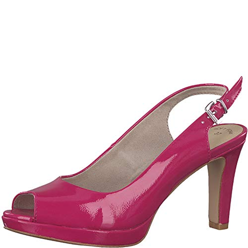 s.Oliver Damen Sling-Pumps 29602-20,Frauen Slingback Pumps,modisch,Fashion,Fuxia PATENT,37 EU -
