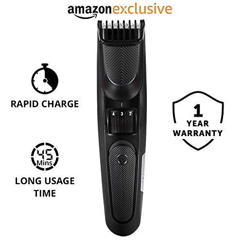 Lifelong LLPCM01 Beard Trimmer Cordless with Quick Charge and Comb Adjustment for...