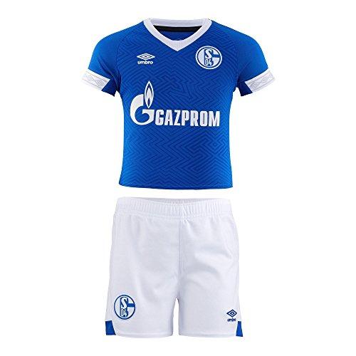 Umbro FC Schalke 04 Minikit Kleinkinder Heim Trikot 18/19-79300U Blau, Größe:110cm