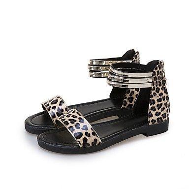 LvYuan Sandali-Tempo libero Formale Casual-Club Shoes-Quadrato-Finta pelle-Nero Bianco Nero giallo White