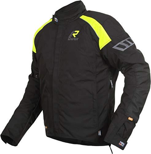 Rukka Veste Gore-Tex HERM noir et jaune avec protections D3O Air XTR