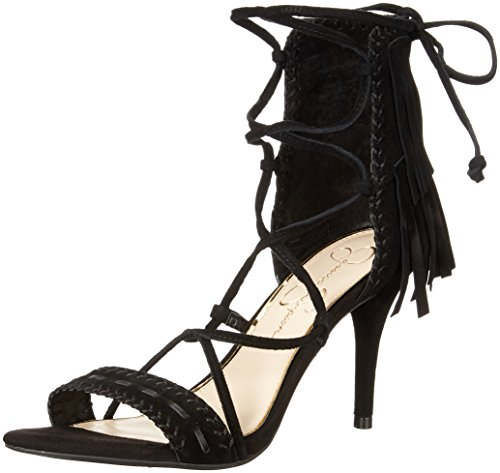 Sandalia de vestir Jessica, de Jessica Simpson, para mujer, negro, 6.5 m US