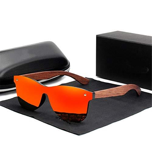ANSKT Hölzerne Sonnenbrille Männer polarisierte Mode Sonnenbrille Holz New-red_bubinga_Wood