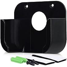 kwmobile Halterung für Apple TV (4. Gen) - Streaming Box TV Wandhalterung inklusive Zubehör für Montage an Wand oder Fernseher in Schwarz