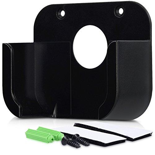 kwmobile Soporte para Apple TV (4. Gen) - Soporte para pared de TV para Streaming Box inclusos accesorios para montaje en pared o en televisor en negro
