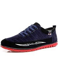 Fuxitoggo Zapatillas para Hombre con Cordones Old Beijing Cloth Zapatillas Deportivas sin Mangas con Suela Blanda
