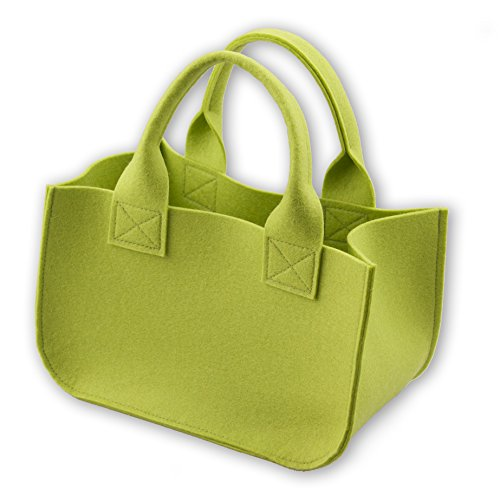 Geschenk Verpackung (Geschenkkörbchen) – Kleine Tasche aus 100% Wollfilz (Merinowolle) – mit Wunschname