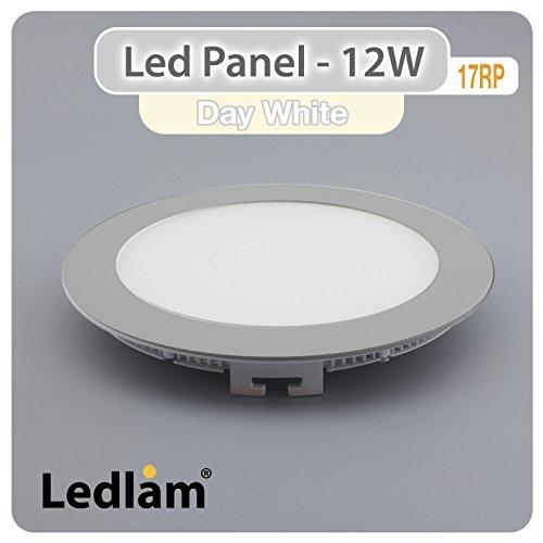 LED Einbaustrahler Panel silber rund Ø 17cm 12 Watt neutralweiß