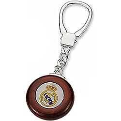 Llavero escudo Real Madrid Plata de ley caoba [6834] - Modelo: 30-067