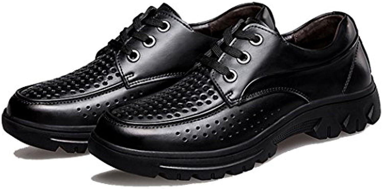 GAOLIXIA Zapatos de cuero de los hombres zapatos de verano huecos transpirables zapatos formales sandalias ocasionales...