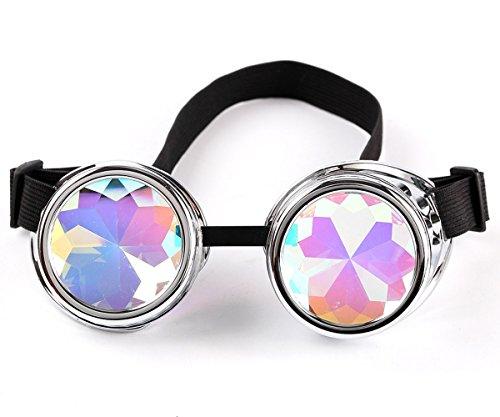 LYZ Steampunk Goggles Fashion Diamond Multicolor Lens Vintage Steampunk Glasses steampunk buy now online