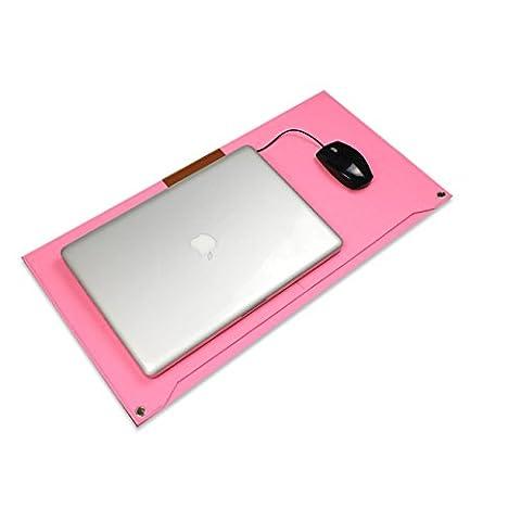 Proelife en aluminium de haute qualité en métal Mouse Pad/Tapis de souris Pad/Tapis pour Apple Magic Mouse Microsoft Logitech TeckNet Razer Mouse/souris, Felt Mouse Pad-2 Layer-Pink, Mouse Pad