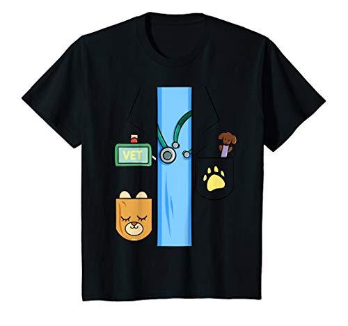 Kinder Tierarzt Kostüm Shirt Kinder Fasching Last Minute Halloween T-Shirt (Halloween Tierarzt Kostüm)
