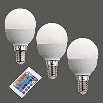 4 LED Glühbirne + 1 Fernbedienung Farbwechsel Leuchte, Lampe, E27 3W ...