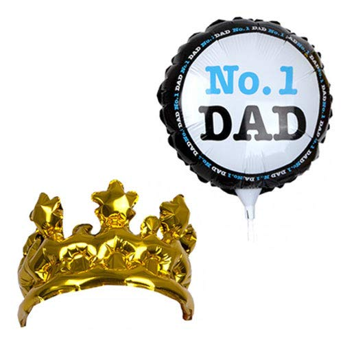 PMS International No  1 Dad Balloon and Inflatable Crown Set
