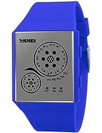 Reloj masculino creativo / relojes impermeables del color de la jalea / reloj personalizado del LED / ultra-fino , deep blue