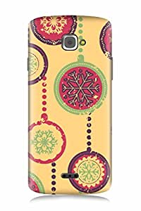 FABCASE Premium christmas snow snowflakes decoaration chirstmasdexoration Printed Hard Plastic Back Case Cover for InFocus M350