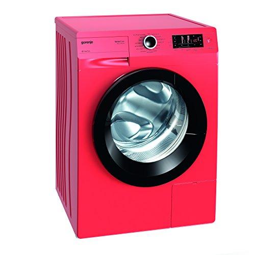 Gorenje W 8543 TR Waschmaschine FL / A+++ / 8 kg / 1400 UpM / rot / Totaler AquaStop / SensoCare-Waschsysteme / VitaProgramme / Colour Collection