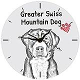 Mayor perro suizo de la montaña, Reloj independiente planta de MDF con una imagen de un perro