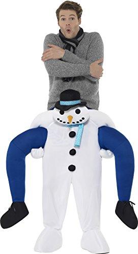 SMIFFY 'S 48816Piggyback Schneemann Kostüm, weiß, One Size (Weihnachts-display Schneemann)