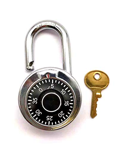 Fixed 3-digit password and emergency key rotary padlock dial lock Fixed Dial
