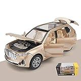 PENGJIE-Model 1:32 BMW X7 Modèle De Voiture SUV SUV Modèle De Voiture Simulation en Métal Jouet Voiture Enfant Garçon Modèle De Voiture (Couleur : Or)