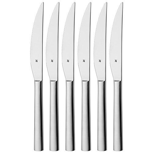 #WMF Nuova Steakmesser Set, 6-teilig, spülmaschinengeeignet, L 23 cm, Cromargan Edelstahl poliert#