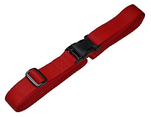 benristraps-25mm-strap-with-quick-release-buckle-and-length-adjuster-1-metre-red