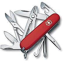 Victorinox Taschenmesser Deluxe Tinker (17 Funktionen, Phillips-Schraubendreher, Kombizange, Schere) rot