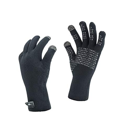 SealSkinz Waterproof Ultra Grip Gloves, Black, M