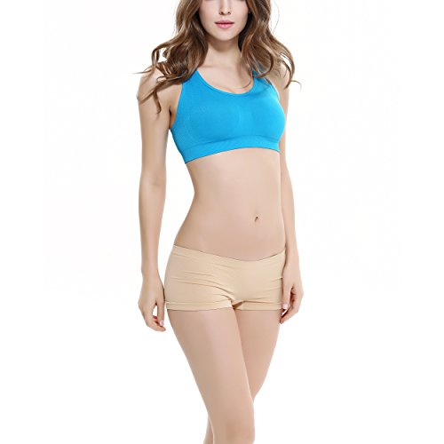 COCO TOE® Damen Sport BH Fitness Yoga BH Ohne Bügel schnelltrocknende Shockproof Sport Bra Blue