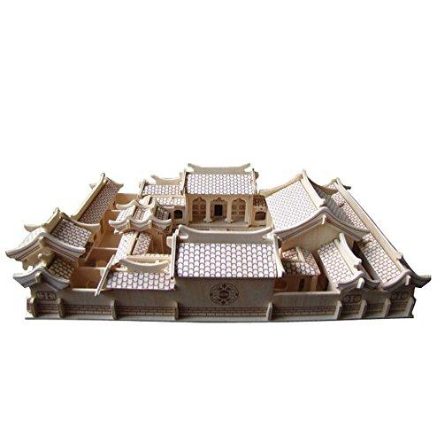 Die Beijing siheyuan Three-Dimensional-Gebäude Manuelle Montage Modell