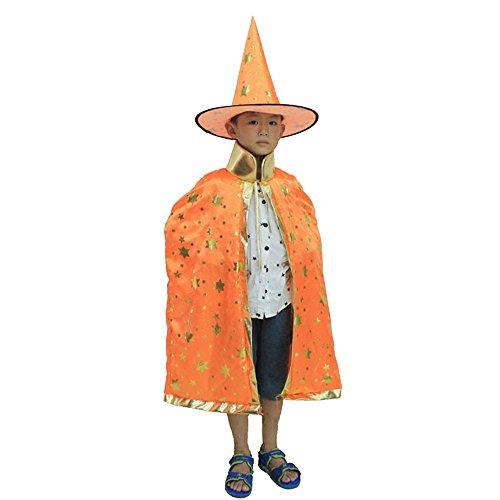 Eizur Kinder Halloween Umhang Hexe Zauberer Mantel kostüm -
