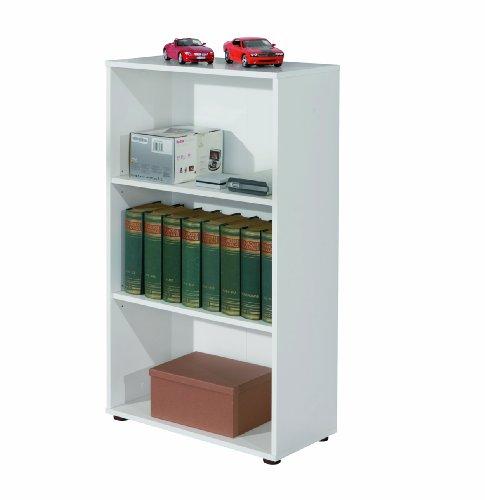 Links 13500020 Regal weiß Bücherregal Wandregal Aktenregal Büroregal Büro Wohnzimmer 2 Böden