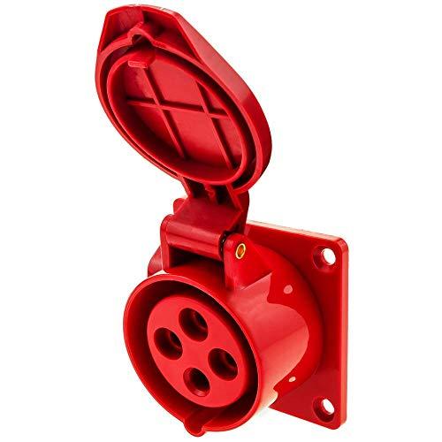 BeMatik - Industrie Steckdose CETAC weiblich 2P+T 16A 380V IP44 IEC-60309 für einbetten