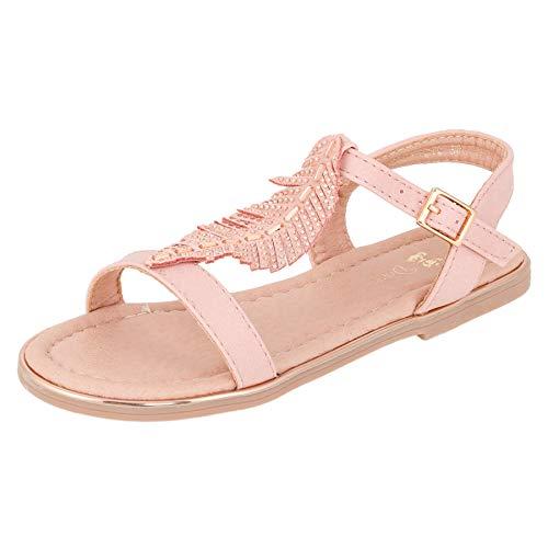 ndalen Sandaletten Kinder Schuhe in Glitzeroptik mit Schnalle M546rs Rosa 31 EU ()