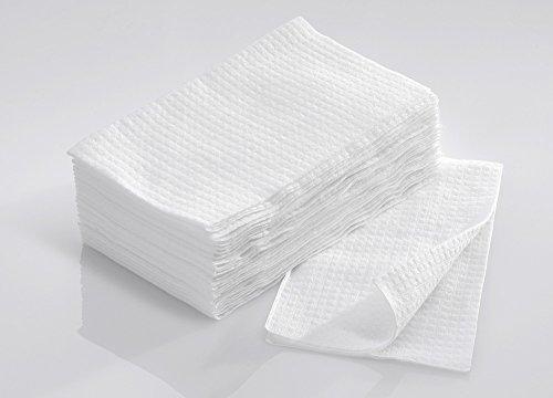 scrummi Waffle weiß Einweg Kleine Handtücher X 50 (Maniküre Handtücher)