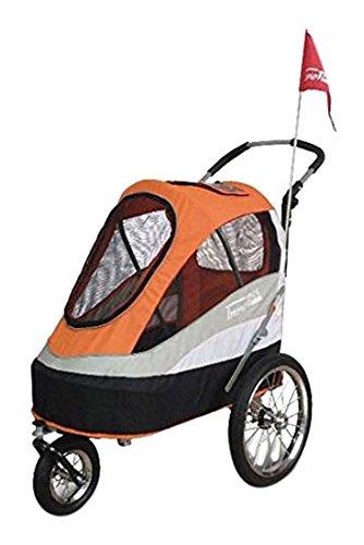 "InnoPet IPS-050 Orange Hundebuggy Dogtrailer Anhänger für Hunde Hundewagen ""Sporty Trailer AT"" hochwertiger Fahrradanhänger für Hunde wandelbar in Hundebuggy mit regenhaube"