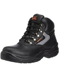 Sterling Safetywear Ss612sm SS612SM - Zapatos de protección de cuero para hombre, color negro, talla 39.5