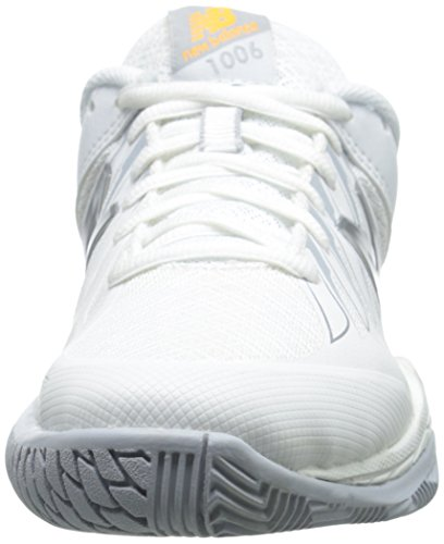 New Balance Women's WC1006V1 Tennis Shoe, White/Silver, 10 2A US White/Silver